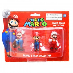 Pack 3 Figurines Mario